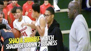 Shaq & Shareef O'Neal Watch Shaqir Get Down to Business in Crossroads Championship game!