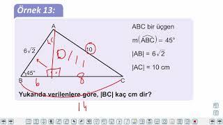 Eğitim Vadisi TYT Geometri 7.Föy Dik Üçgende Alan Kenarortay Özel Açılar Konu Anlatım Videoları