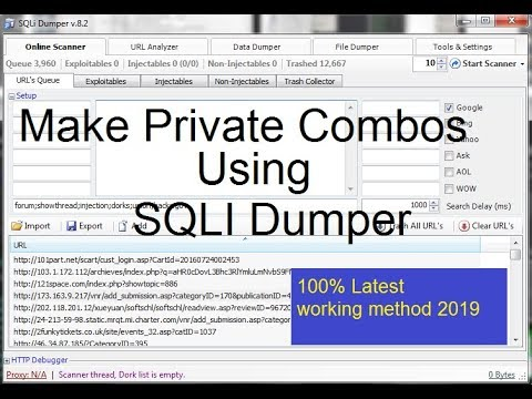 How to make Private HQ Combo List For Fortnite  (Sqli Method