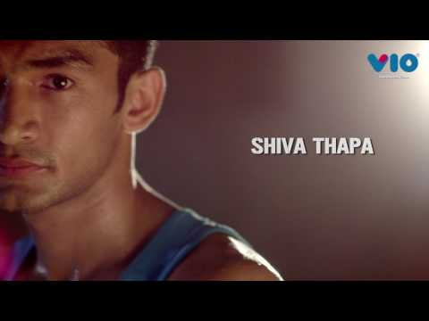 Shiva Thapa runs with Vio