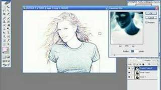 Photoshop Tutorials - Photo To Line Drawing