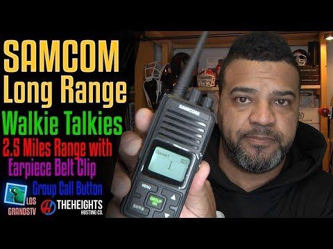 Samcom Long Range Walkie Talkies 🔊 : LGTV Review