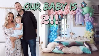 Olives 2ND Birthday! Kids Party Set Up & Food Prep | Elanna Pecherle 2020
