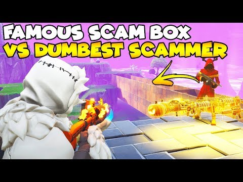 Famous SCAM Box vs Dumbest Scammer! 😱 (Scammer Gets Scammed) Fortnite Save The World