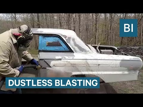 Paint Can Be Stripped In Seconds Using 'Dustless Blasting'