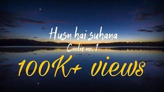 Husn Hai Suhana (Lyrics) | Coolie No.1 | Varun   - YouTube