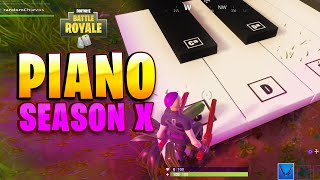Fortnite Season 10 | Visit an oversized piano and play sheet music (Boogie Down Challenge)