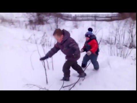 Детские игры зимой на улице
