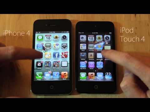Обзор iPod Touch 4 и его  отличия от iPhone 4 (русский)