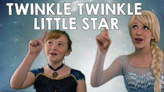 Disney Frozen Elsa and Anna - Twinkle Twinkle Little Star | sing-a-long nursery rhymes
