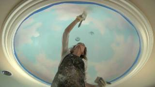 Mural tutorial: How to paint clouds on the ceiling