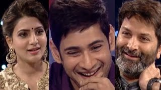 Mahesh Babu, Samantha, Trivikram Srinivas Full Interview - Memu Saitam Event - Memu Saitham 4 hud