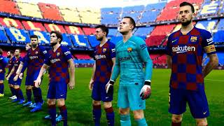 PES 2020 The players greeted the audience