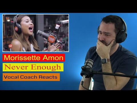William's reaction to Morissette Amon singing Never Enough