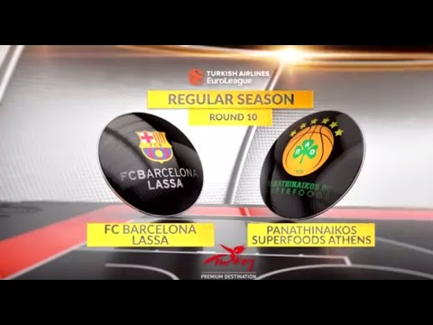 EuroLeague Highlights RS Round 10: FC Barcelona Lassa 72-57 Panathinaikos Superfoods Athens