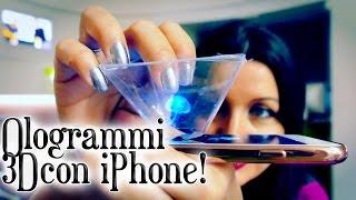 Trucchi iPhone: creare incredibili OLOGRAMMI in 3D con un pezzo di plastica!