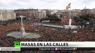 Manifestación de la derecha en Madrid contra el Gobierno de Sánchez
