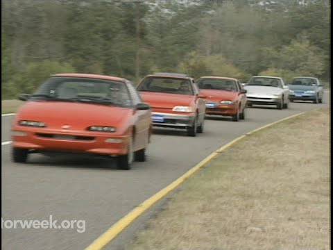 MotorWeek | Retro Review: '92 Econo Sport Comparo: Paseo, NX1600, Scoupe, Saturn, Storm