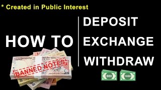 Deposit and Exchange old 500 1000 notes