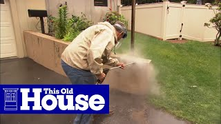 How to Cover a Concrete Wall with Stone Veneer | This Old House