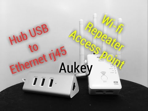 hub USB to Ethernet rj45 access point aukey review