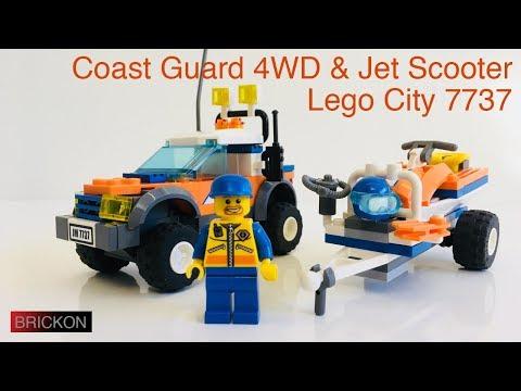 Vidéo LEGO City 7737 : Le 4x4 et le scooter des mers des garde-côtes
