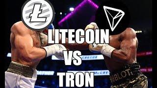 LiteCoin vs.Tron go toe to toe