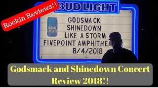 Shinedown and Godsmack Live Review 2018
