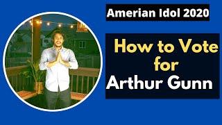 How to vote for Arthur Gunn | American Idol 2020