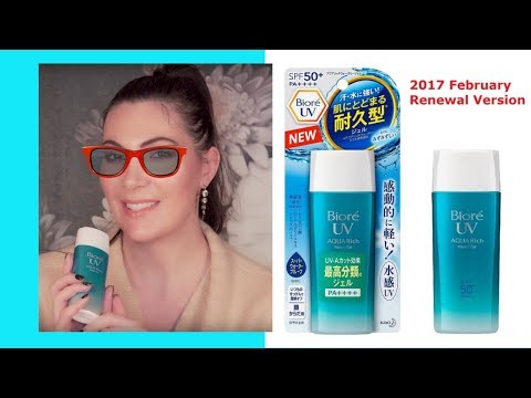 Kao Biore UV Aqua Rich Watery GEL Sunscreen SPF 50+ PA++++ Review