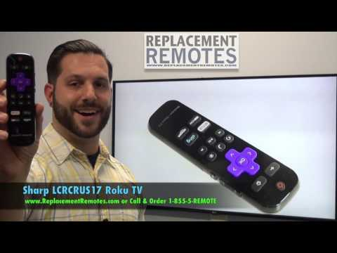 SHARP LCRCRUS17 Roku TV Remote Control