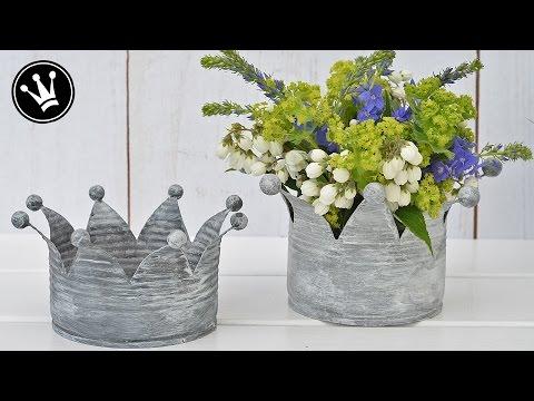 Blumenkronen aus alten Blechdosen - Aus alt mach (shabby) chic