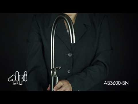 Video for Polished Chrome Gooseneck Single Hole Bathroom Faucet