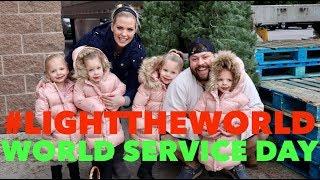 LIGHT THE WORLD- WORLD SERVICE DAY