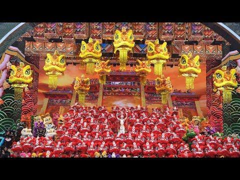 Interpretación De La Danza China Del León y El Dragón