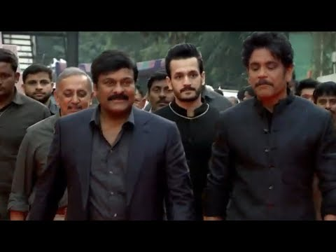 Actor Chiranjeevi Grand entry at ANR National Award 2019 Function