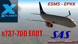 X-Plane 11- Erstflug mit der EADT X737-700 - Free video