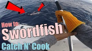 First Swordfish Deep Dropping Floyds Wall | Catch N Cook
