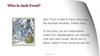 Gambar cover Who is Jack Frost? a Wordville Reading Comprehension Story