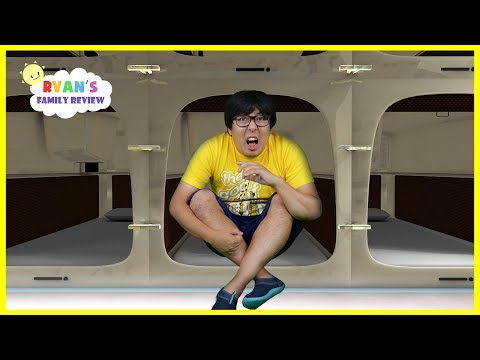 Japan Capsule Hotel Tour + More fun places with Ryan's Daddy!!!