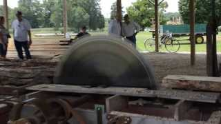 Old Fashion Saw Mill Live and in Action Posey County