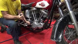 #112 1950 & 1959 panhead bike mock-up harley parts hunting at tatro machine shop tour