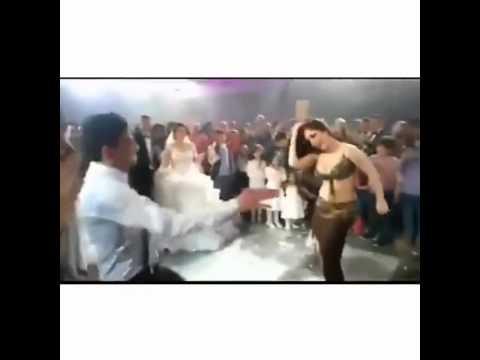 بالفيديو.. شاب يتحدى الراقصة إليسار في حفل زفاف