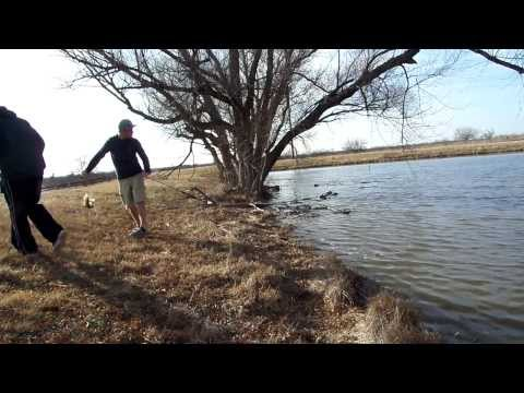 Fishing for Large Mouth Bass in the winter at private pond (TexasBassBros)