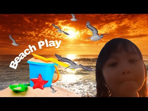 Brighton Beach Melbourne-Kids play at Brighton beach with toys and sands-