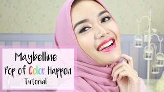 Pop Of Color Happen Makeup | Maybelline One Brand Tutorial | DXB ♡