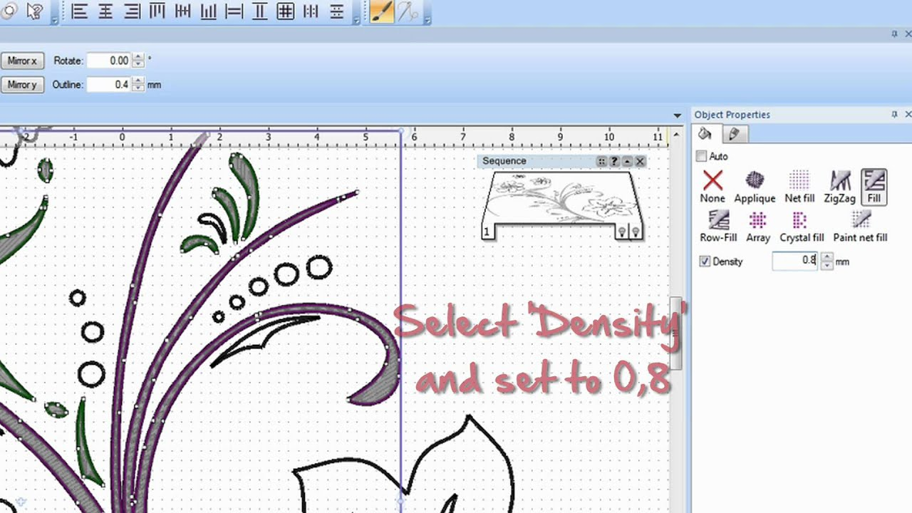 BERNINA PaintWork: how to create a design with the PaintWork Software