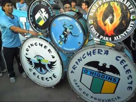 """""""Banderazo Familiar Trinchera Celeste, Con Bombos y en Familia Alentamos."""" Barra: Trinchera Celeste • Club: O'Higgins"""