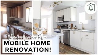 UNBELIEVABLE MOBILE HOME TRANSFORMATION! INDUSTRIAL FARMHOUSE REMODEL | Living Hope Renovations