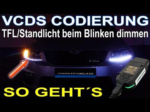 VCDS Codierung  TFL Standlicht Dimmung beim Blinken   Skoda Octavia